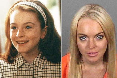 Child stars gone bad in Yahoo : Lindsay Lohan, Tatum O'Neal, Mackenzie Phillips