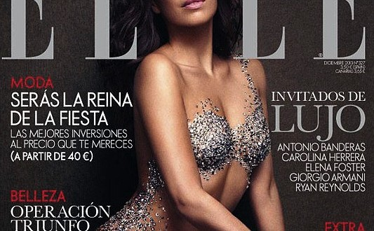 Eva longoria : Nude with Crystals for Elle Spain (PHOTO – VIDEO)