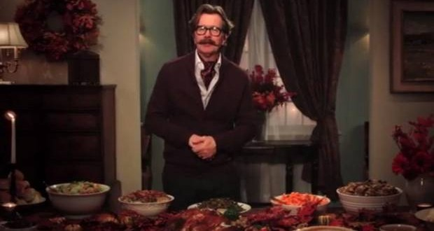 Gary Oldman : Actor historically accurate anti-Thanksgiving message (VIDEO)
