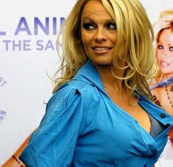 Pamela Anderson's defends silicone implants : Star Advises FDA