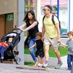 Actor Matthew McConaughey's Festive Family Outing