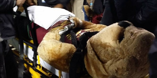 Mississippi State Mascot Injured by ESPN Cart (PHOTO)