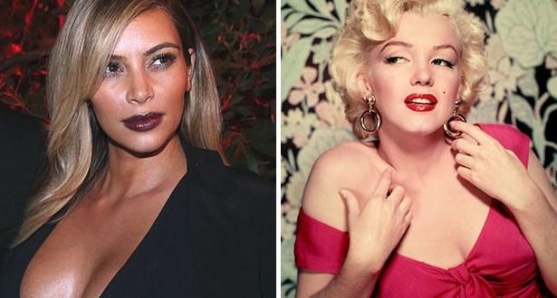 Star Kim Kardashian similar to Marilyn Monroe?