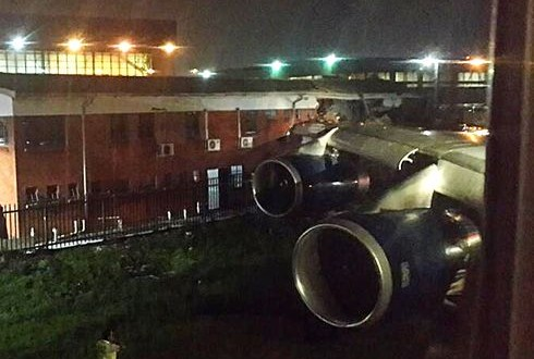 London-bound British Airways jet wing hits building at South African airport