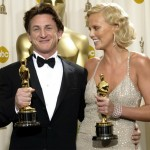 Actress Charlize Theron and Sean Penn