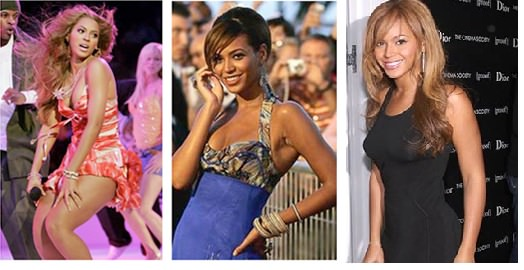 Singer Beyonce lost 20 pounds for dreamgirls