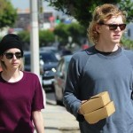 Actress Emma Roberts and Evan Peters Take Care of the Car