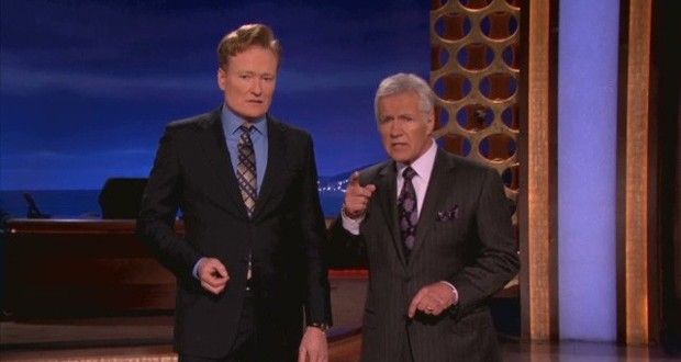 Alex Trebek Gets Back at Conan O'Brien (Video)