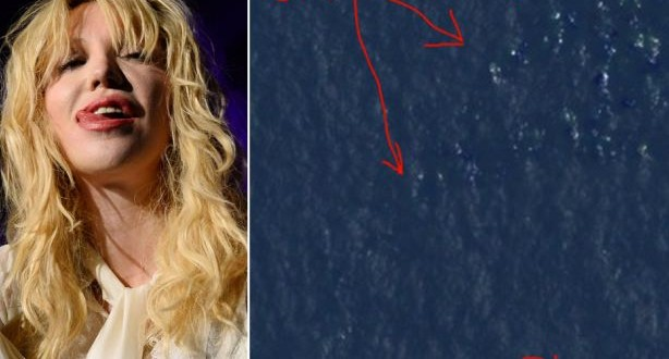 Singer Courtney Love claims to have found missing plane