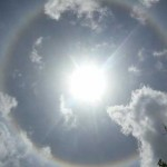 Giant ring appears around the sun