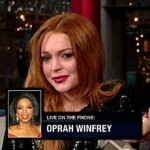 Lindsay Lohan, David Letterman prank call Oprah
