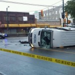 Officers investigate police wagon collision, Report