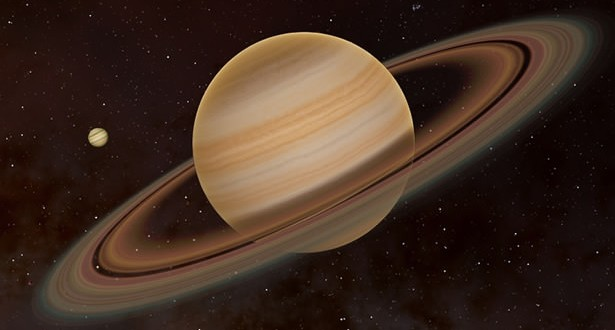 Animation simulates close encounter between Earth and Saturn (Video)