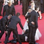 Cannes Film Festival 2014: Man dives under Ferrera's dress