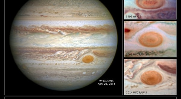 Jupiter's Great Red Spot not so great anymore (Photo)