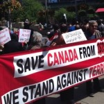 Calgary : Downtown rally against the violence in Iraq