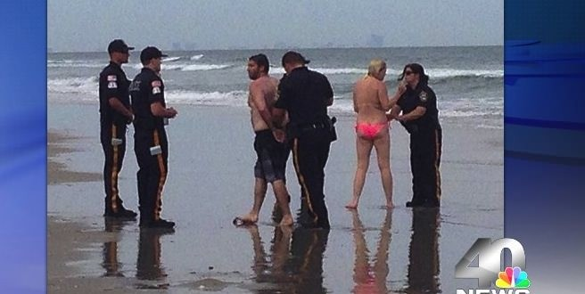 Police Arrest Couple For Sex On The Beach