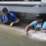 US man catch giant sturgeon on the Fraser River