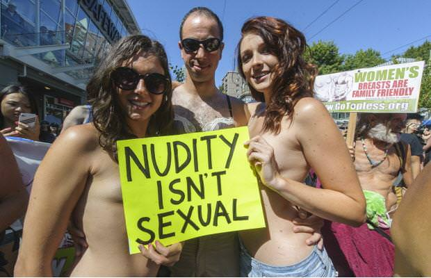 Naked girls getting messy