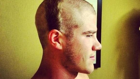 Zach Hocker receives hideous hazing haircut (Photo)