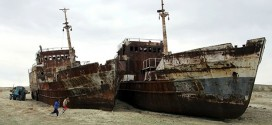Aral Sea basin completely dried out (Video)