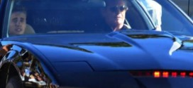 Justin Bieber in Knight Rider car Kitt
