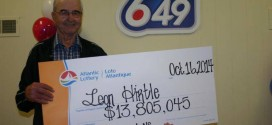 Nova Scotia lottery winner collects $13.8-million prize