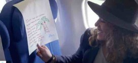 Airline brings passengers to tears with special headrest covers (Video)