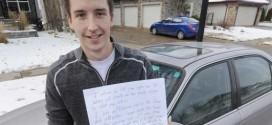 Derek Murray : Edmonton Good Samaritan's note goes viral