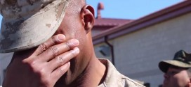 Gunnery Sgt. Chris Taylor : Sergeant's wife surprises him on the other side of the country