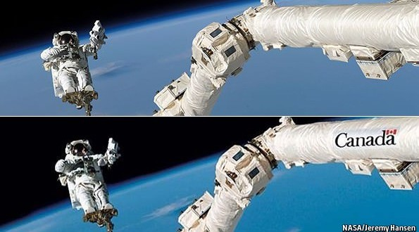 How Canada faked its place in space (Photo)