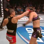 Leslie Smith Ear Torn by Jessica Eye : Brutal UFC Match Ends in Female Fighter Losing Part of Ear