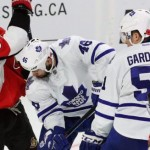 NHL : Maple Leafs - Senators fan brawl caught on video (Watch)