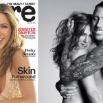 Aniston poses topless with hairstylist for 'Allure' (Photo)