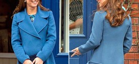 Duchess Kate Switches Her Hair Up to a Knotted Half-Up Hairstyle (Photo)