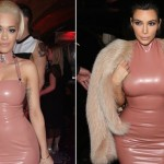 Kim, Rita wear same skintight latex dress (Photo)
