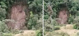 Apparition of Christ appears following Colombian landslide (Photo)