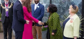 Duchess Kate Looks Pretty In Pink Coat For Charity Visit