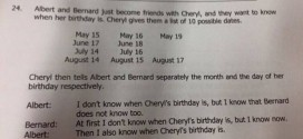 'So when is Cheryl's birthday?' Singapore math question for kids stumps internet