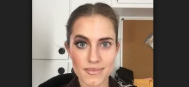 Allison Williams : Girls Actress Posts Makeup both before and after in one Instagram selfie