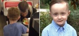 Boy asks mom to buy dinner for homeless man (Video)