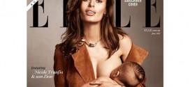 Nicole Trunfio Breastfeeds Her Son On Cover Of ELLE Magazine