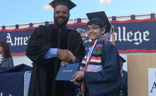Tanishq Abraham : 11-Year-Old Boy Graduates from American River College