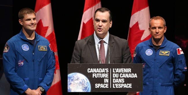 Canada to send two astronauts to space by 2024, industry minister says