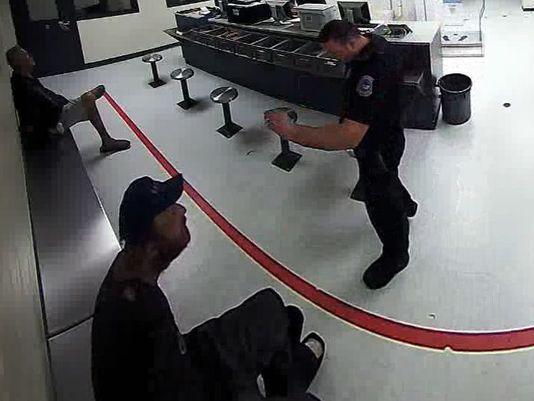 cop man penis throw