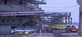 Fire on USS Midway : Firefighters knock down blaze on board USS Midway Museum 'Video'