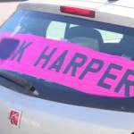 Edmonton man to fight $543 fine over profane Harper sign