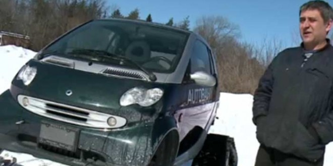 Ottawa mechanic transforms car into ski car (Video)