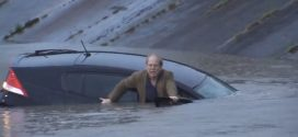 "Man Trapped in Sinking Car Rescued by TV Reporter ""Video"""