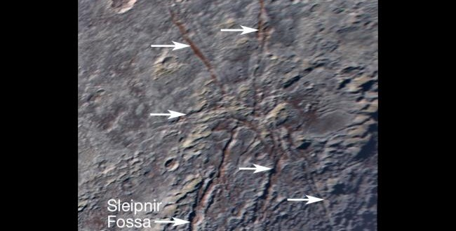 NASA Captures Giant Icy 'Spider' on Pluto's Surface (Photo)